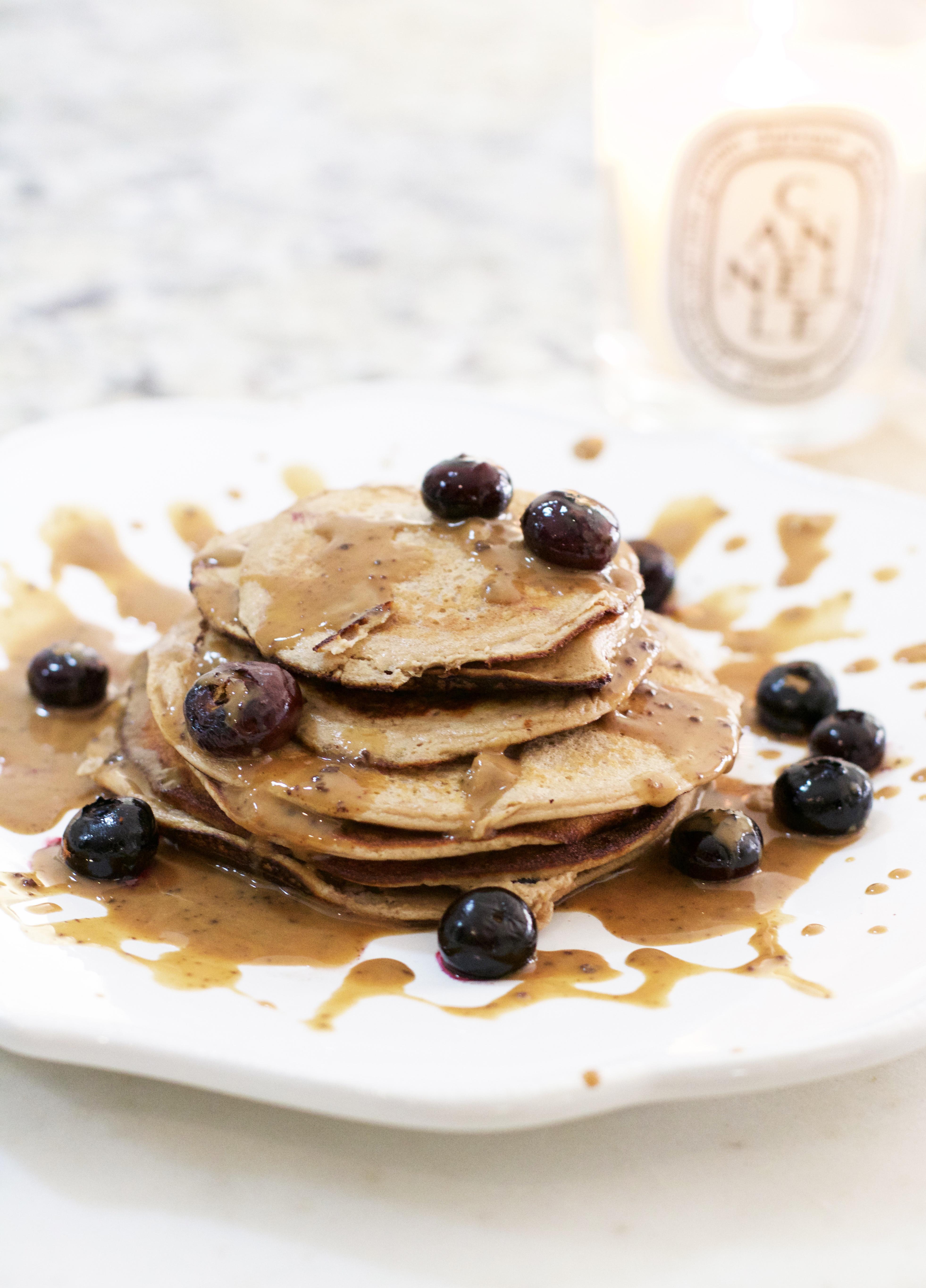 Banana Blueberry Protein Pancakes Lifetolauren