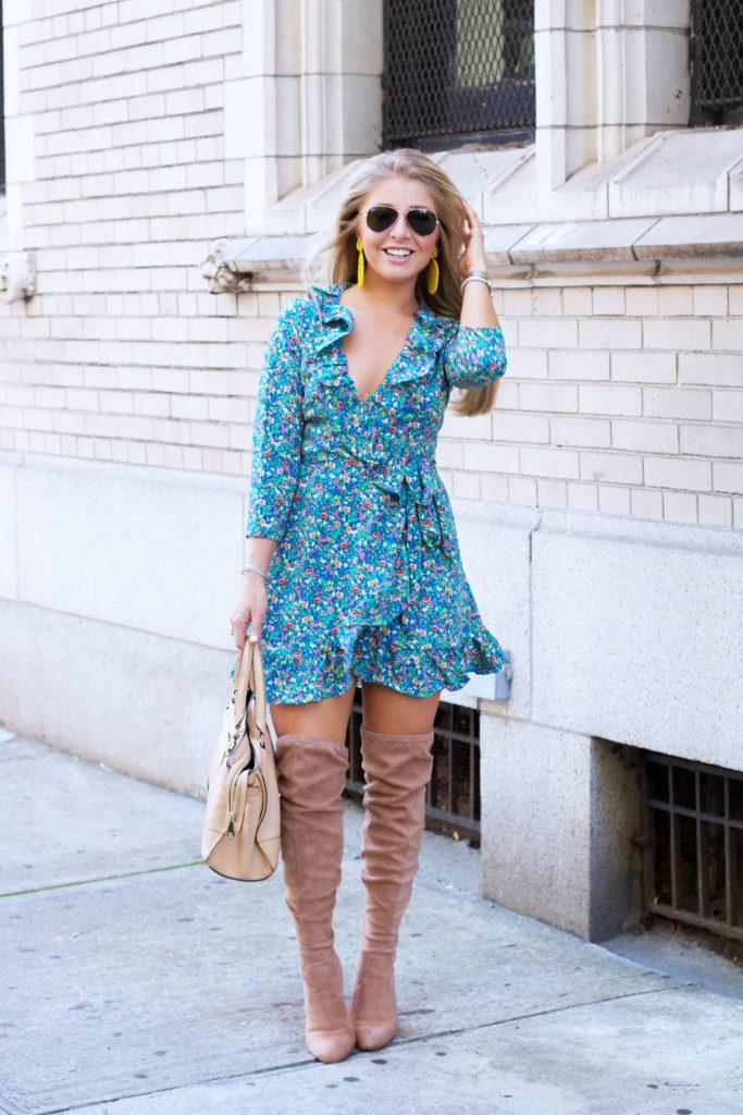 Fall Fl Wrap Dress 2017 Womens Fashion