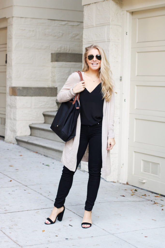 Neutral Black Fall Outfit