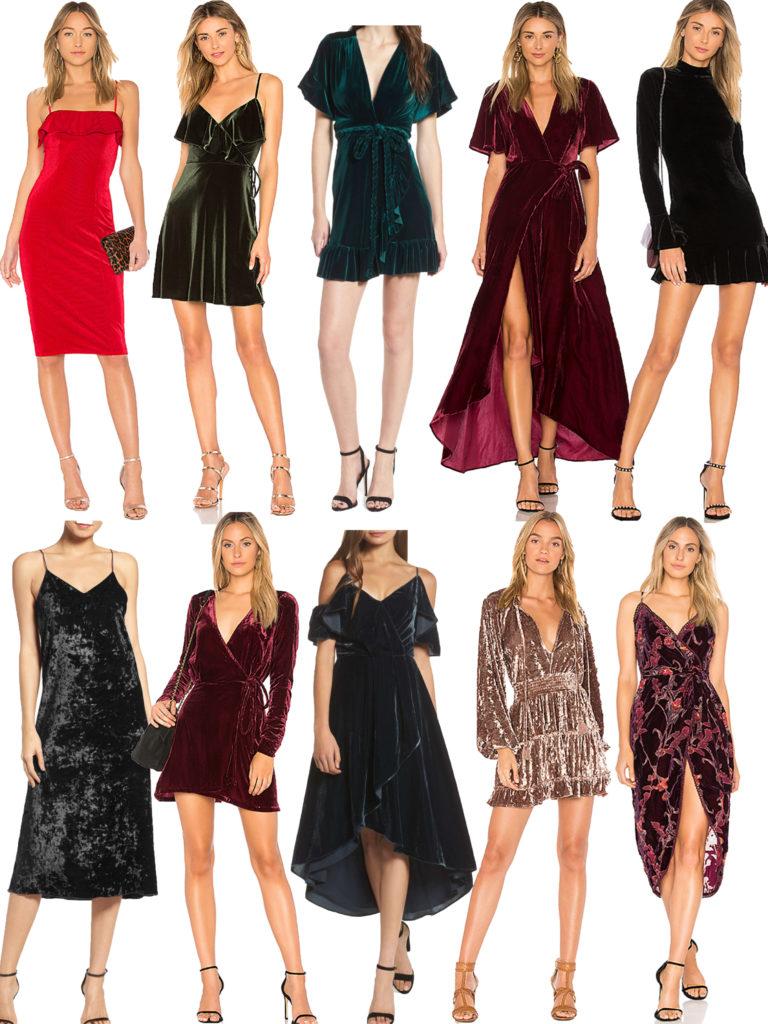 velvet dresses 2017