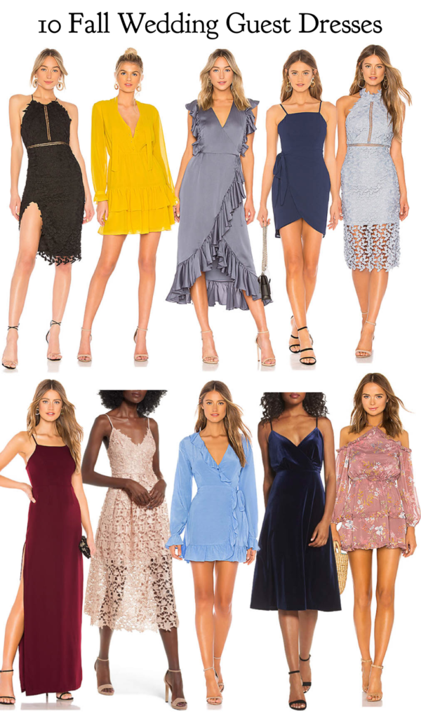 10 Fall Wedding Guest Dresses