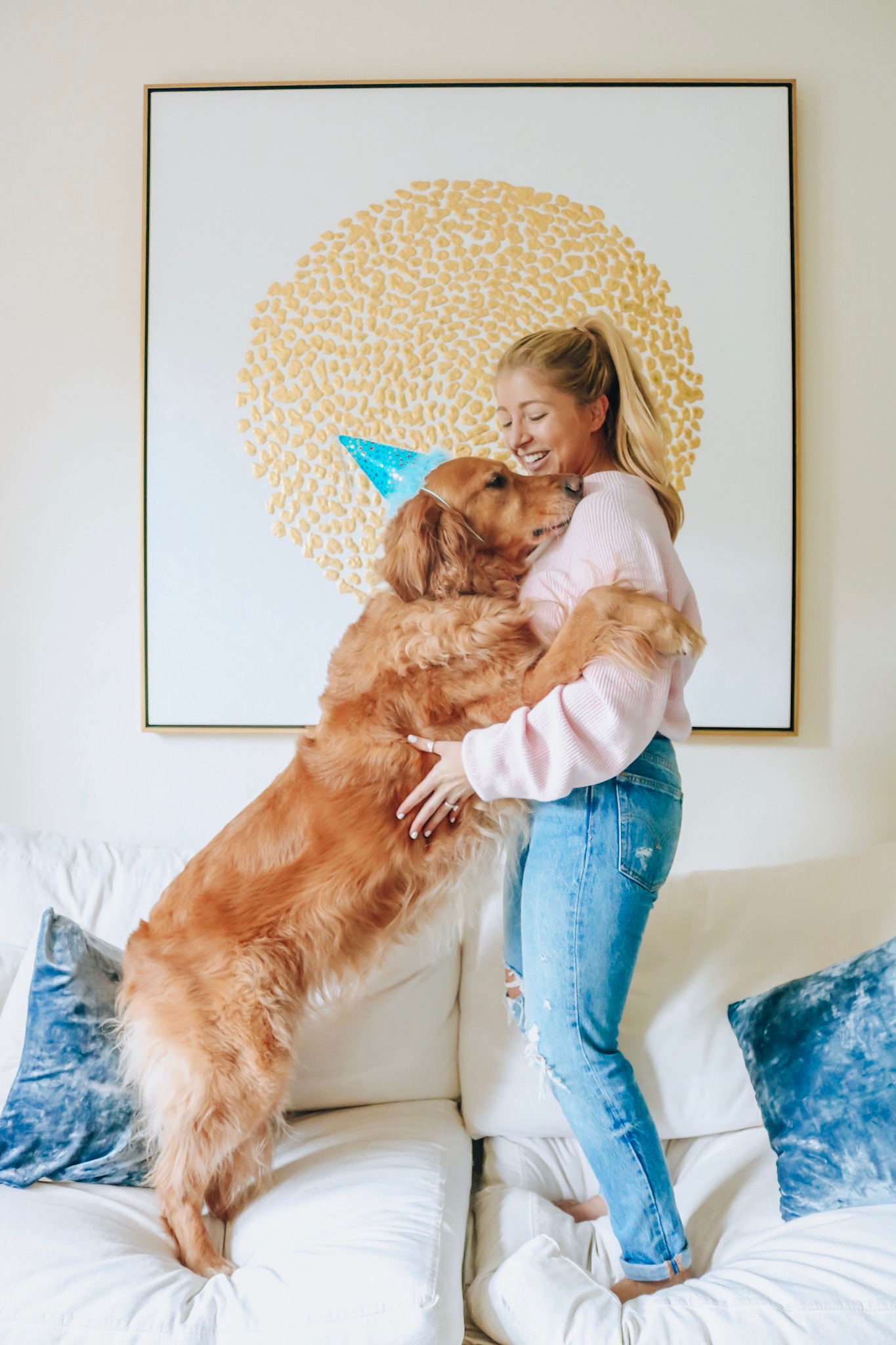 SHOP THE POST Sweater Similar Jeans Rug Coffee Table Picture High Fashion Home No Link Sorry Dog Birthday Cake Three Bakery Welcome